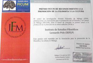 Premio FICUM de reconocimiento a la promoción de la filosofía y la cultura